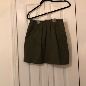Jcrew olive skirt with pockets